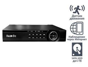 4-канальный H.264 видеорегистратор Falcon Eye для систем видеонаблюдения