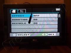 Фотографии настройки HD мини камеры через телевизор по HDMI