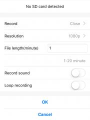 Приложение BVCAM для iOS мини камеры DV155S и пример изображения с камеры