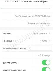 Приложение BVCAM для iOS мини камеры Ambertek MD90S и пример изображения с камеры