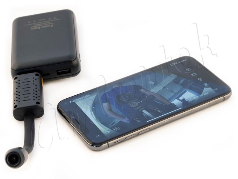 автономная работа от внешнего аккумулятора wi-fi ip видеокамеры ambertek q6s