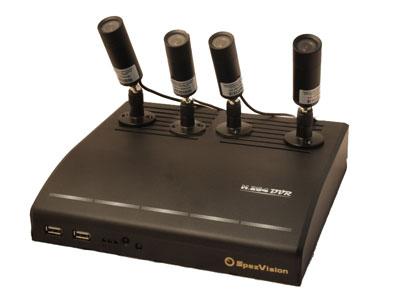 Комплект видеонаблюдения  v4.3 с четырьмя купольными видеокамерами