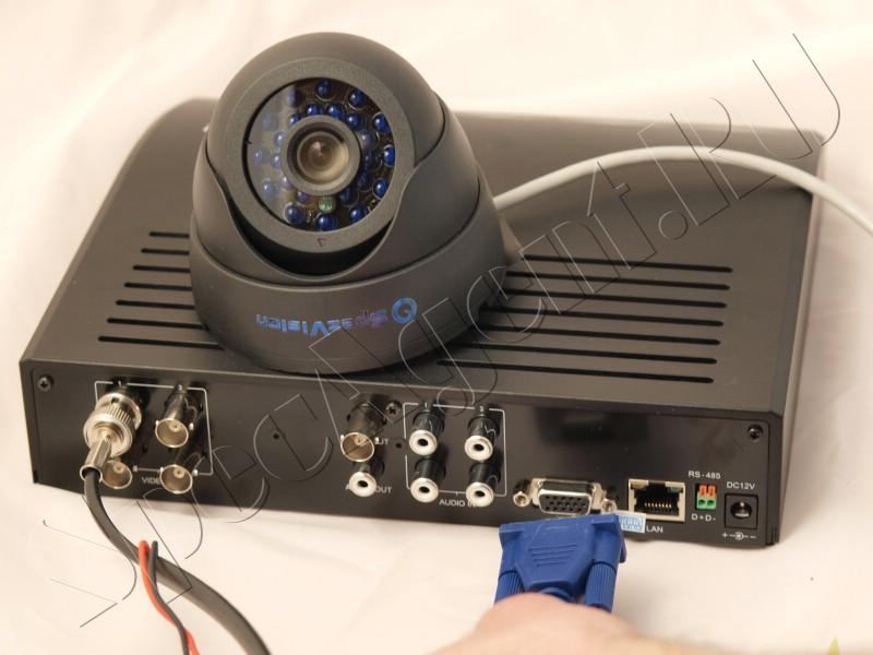 Подключение видеокамер к блоку питания.