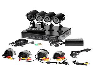 Комплект видеонаблюдения FE-104H-KIT с четырьмя всепогодными видеокамерами с функцией ночного видения