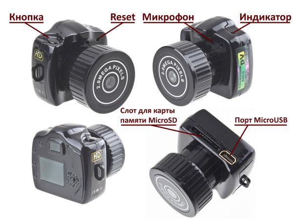 Камера видеонаблюдения с углом обзора 90 градусов