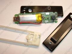Миниатюрная видеокамера - мини видеорегистратор Ambertek DV033 в разобранном виде