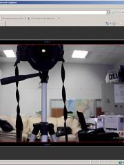 Скрытая PTZ беспроводная Wi-Fi IP-камера для видеонаблюдения через Интернет - просмотр через браузер, ПК